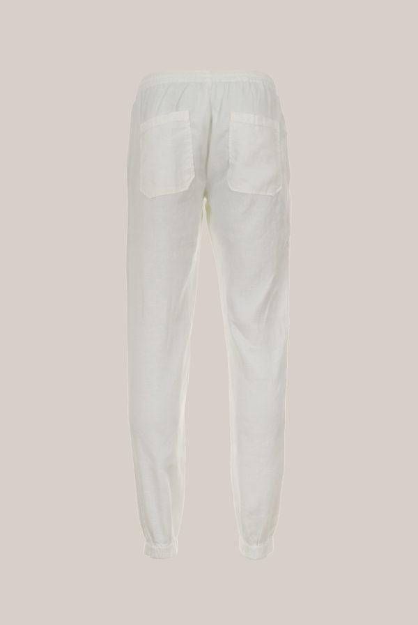 Pantalon « Jog » Uni Blanc