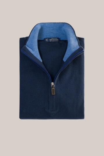 Pull half-zip Uni Bleu Foncé