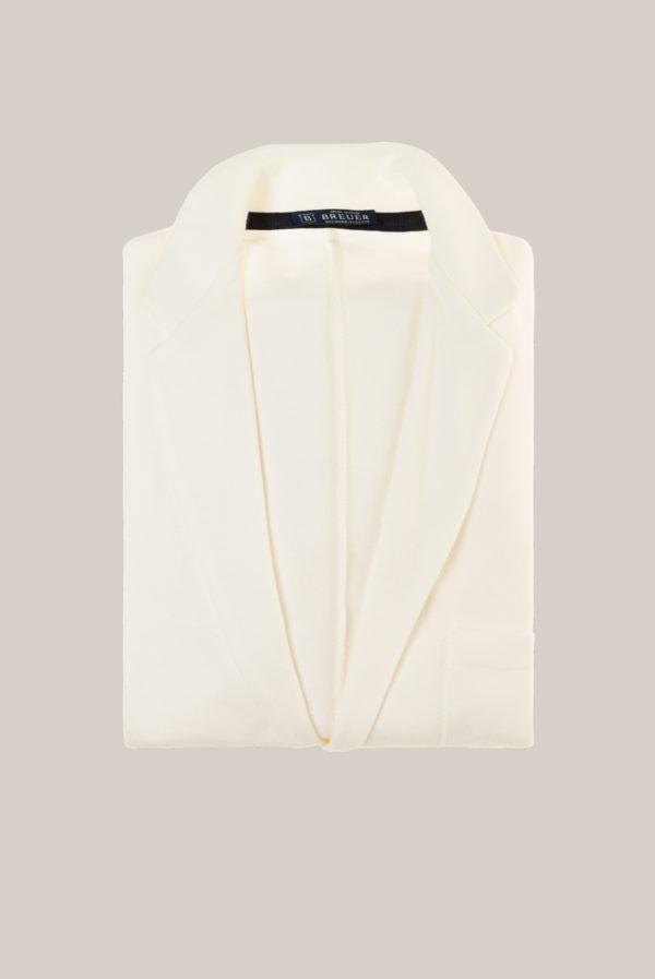 Veste en Maille Coton Uni Blanc Cassé