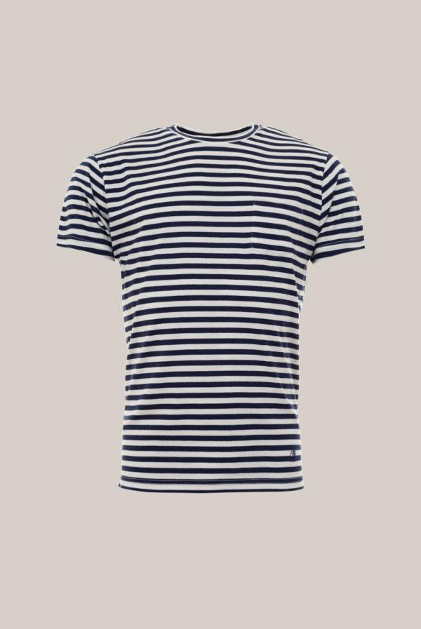 Tshirt Coton Organic Rayures Marine et Blanc