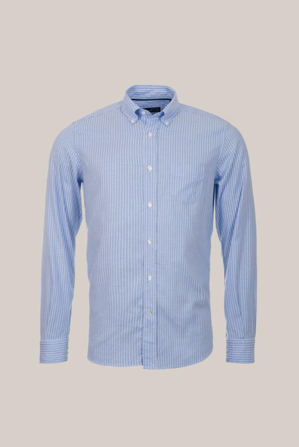 Chemise Ramatuelle Coton Oxford Rayures bleu ciel et blanc