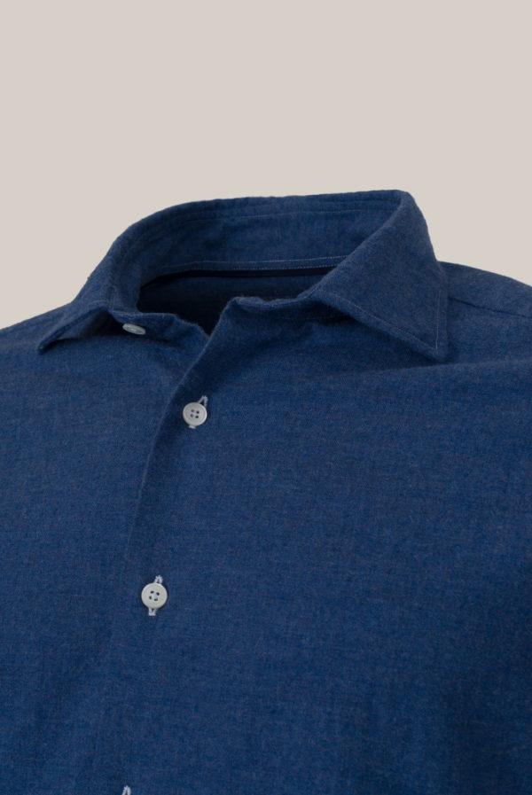 Chemise Beaulieu Coton Flanelle Bleu cobalt