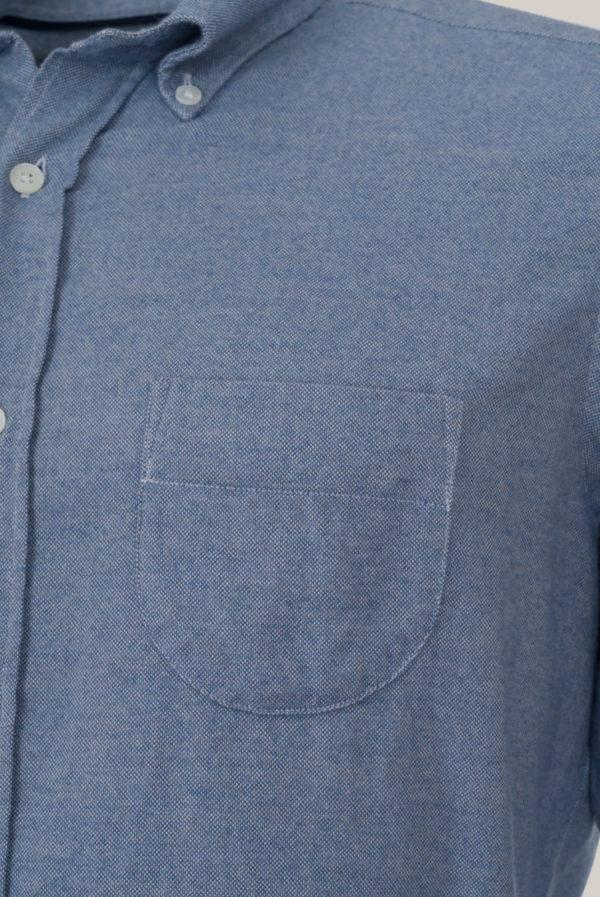 Chemise Ramatuelle Coton Flanelle Bleu ciel et blanc