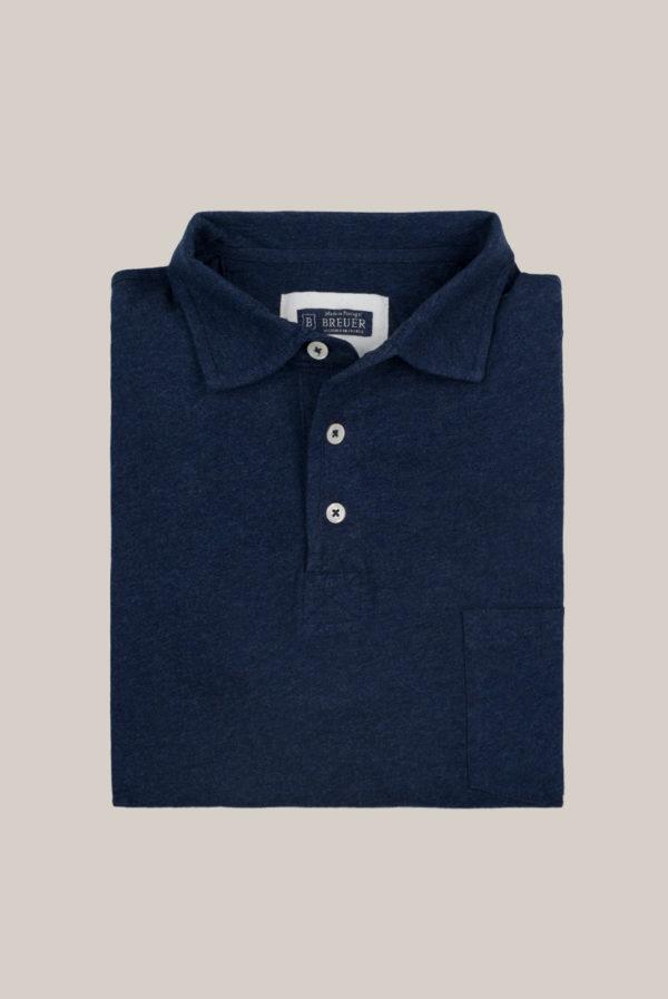 Polo ML Jersey Coton Bleu marine