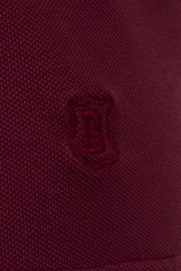 Polo piqué Coton ML  Bordeaux