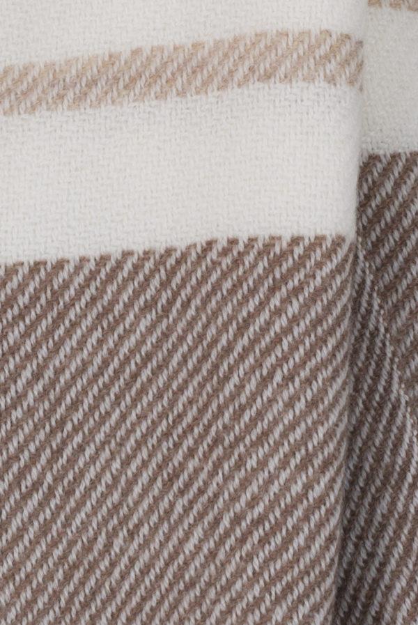 Echarpe maille Laine - Cashmere Dégradé de beige et blanc